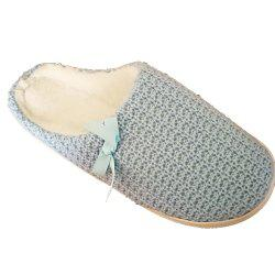 Women's  House Slippers with Cashmere Upper Fleece Lining and Anti-Slip Rubber Outsole -