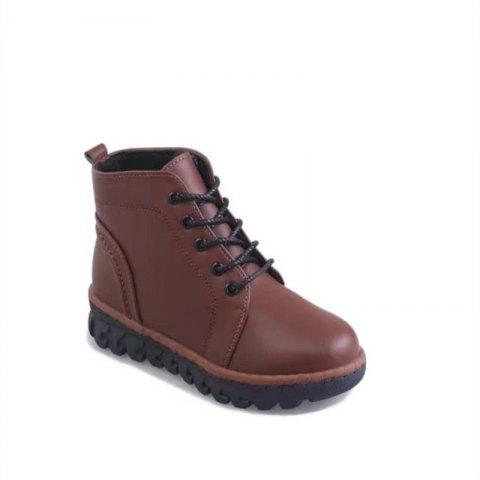 Outfits YQ-W7788 Round Tie Slip Warm All-Match Rivet Female Martin Boots