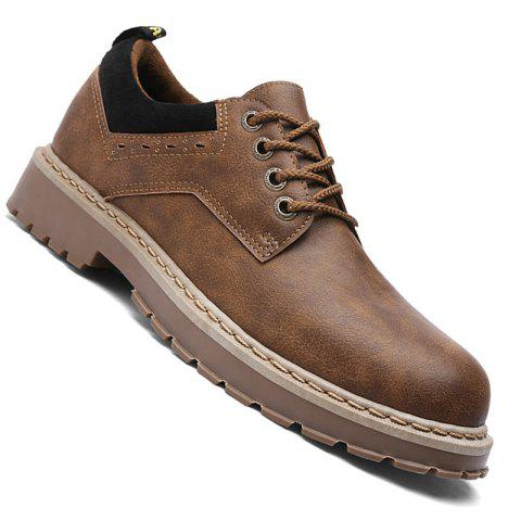 Hommes Casual Fashion Metal Décoration d'affaires Cuir Chaussures Taille 39-44
