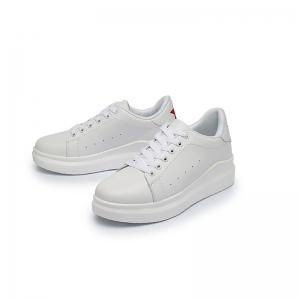 Women Sport Thick Bottom Increased Girls Plus Size Platform Classic White Outdoor Sneakers -