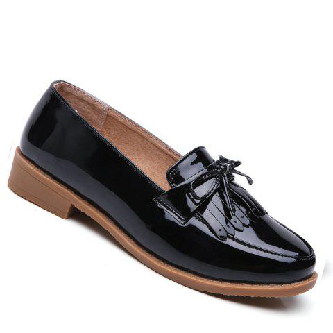 Sale Women Platform Shoes Butterfly Knot Flats Slip on PU Leather Comfortable Round Toe Loafers