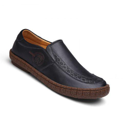 Best Men Fashion Casual Genuine Leather Moccasins Loafers Slip on Male Flats Shoes