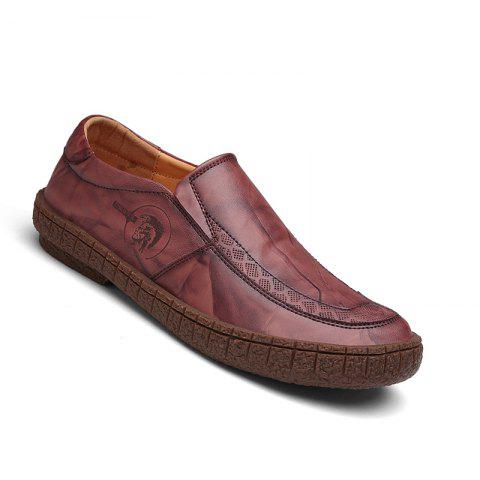 Affordable Men Fashion Casual Genuine Leather Moccasins Loafers Slip on Male Flats Shoes