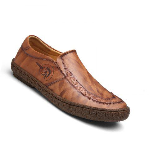Outfit Men Fashion Casual Genuine Leather Moccasins Loafers Slip on Male Flats Shoes