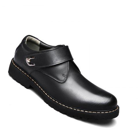 Discount Business Men Shoes Genuine Leather Loafers High Quality Soft Casual Breathable Flats