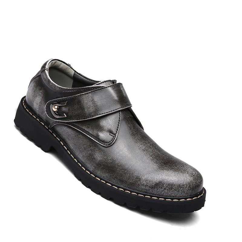 Trendy Business Men Shoes Genuine Leather Loafers High Quality Soft Casual Breathable Flats