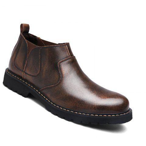 Chic Fashion Oxford Business Men Shoes Wam Genuine Leather High Top Boots