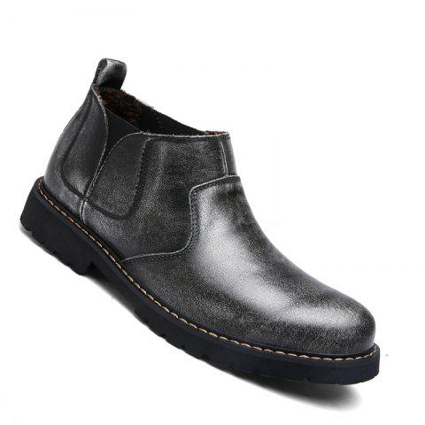 Fancy Fashion Oxford Business Men Shoes Wam Genuine Leather High Top Boots