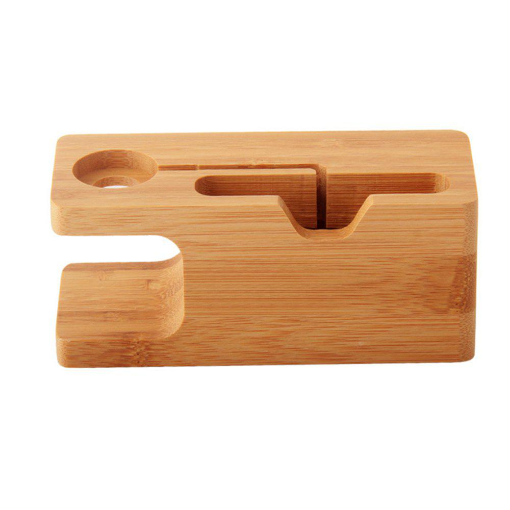 WM1 Wooden Cell Phone Holder for iPhone Apple Watch 165GHOME<br><br>Color: WOOD;