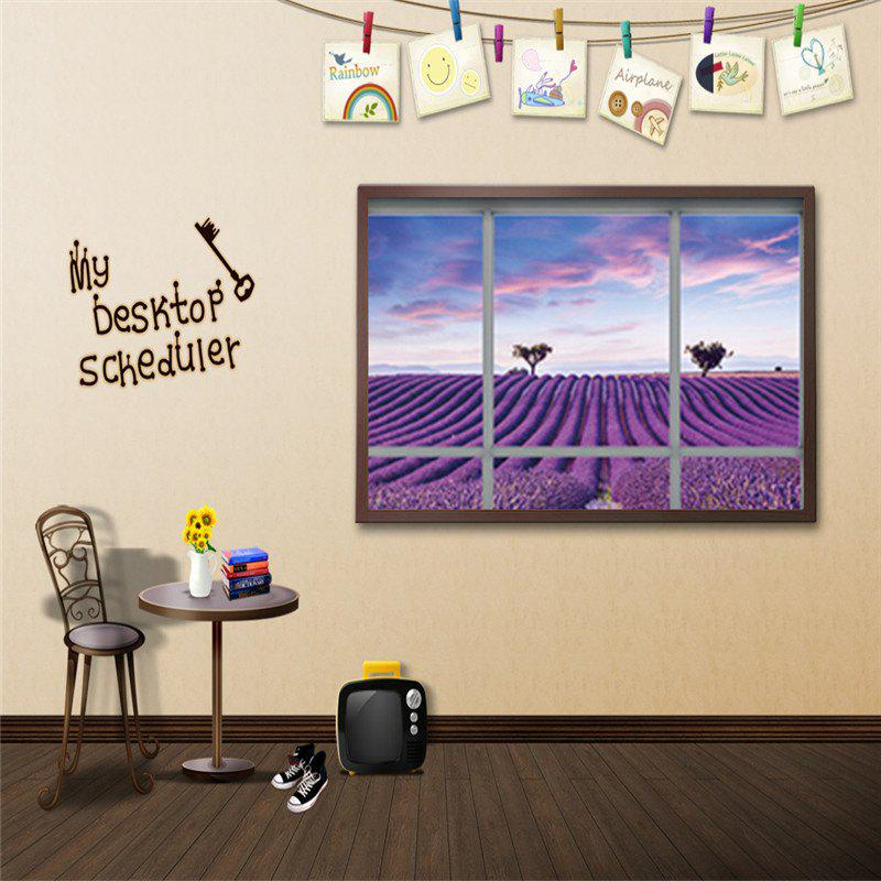 Colormix Creative 3d Fake Window Lavender Landscape Wall Stickers