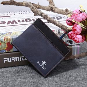 JPT - 1029 Men's Short Wallet Multi Functional Patchwork Vintage Purse -