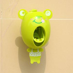 Lazy Automatic Toothpaste Squeezing Device Toothbrush Rack - Frog -