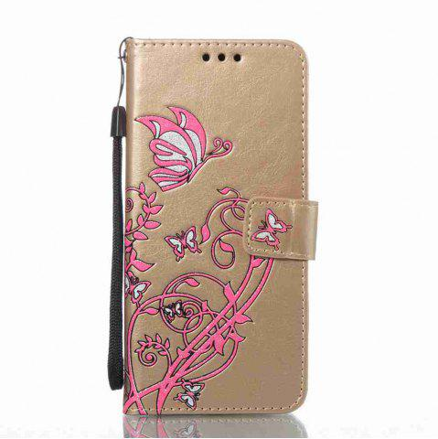 Unique Embossing Colorful Daffodils PU Phone Case for Samsung Galaxy  S8