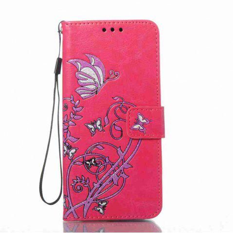 Trendy Embossing Colorful Daffodils PU Phone Case for Samsung Galaxy  S8