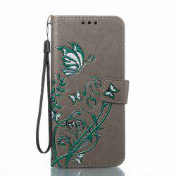 Embossing Colorful Daffodils PU Phone Case for Samsung Galaxy  S8 -