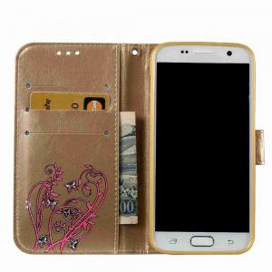 Embossing Colorful Daffodils PU Phone Case for Samsung Galaxy S7 -