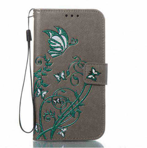 Chic Embossing Colorful Daffodils PU Phone Case for Samsung Galaxy S7