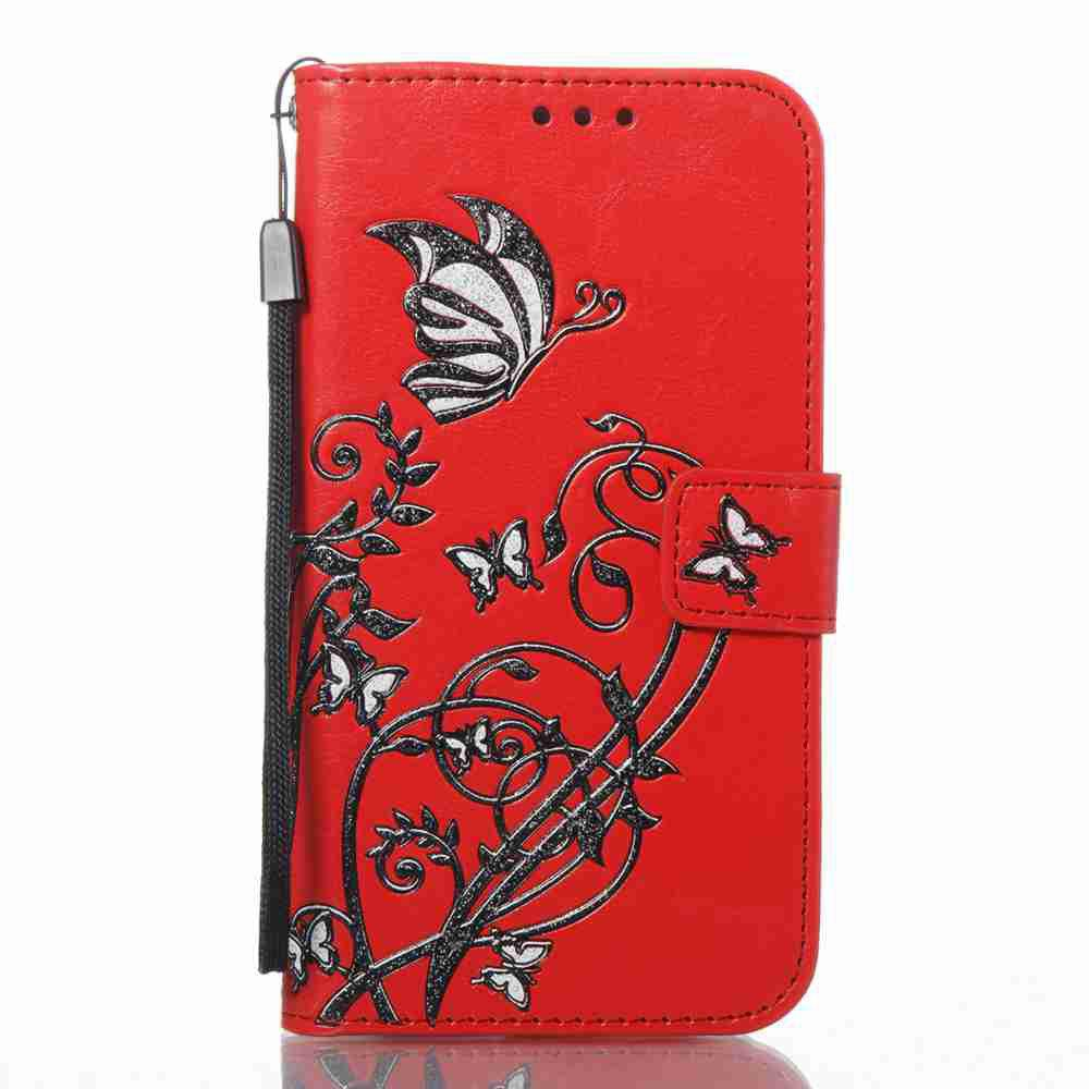 Fancy Embossing Colorful Daffodils PU Phone Case for Samsung Galaxy S7