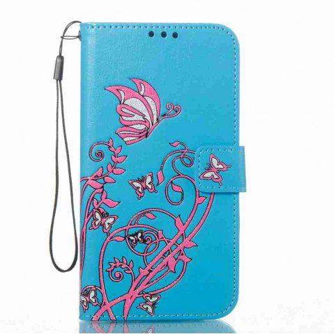 Fancy Embossing Colorful Daffodils PU Phone Case for Samsung Galaxy  S7 Edge