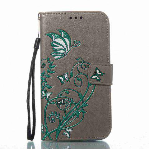 Unique Embossing Colorful Daffodils PU Phone Case for Samsung Galaxy  S6 Edge