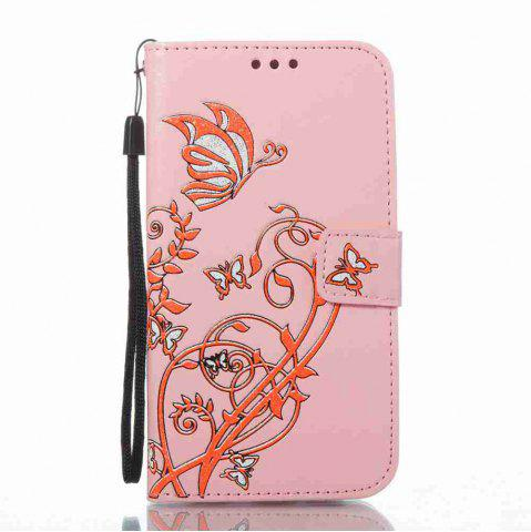 Fashion Embossing Colorful Daffodils PU Phone Case for Samsung Galaxy  S6 Edge