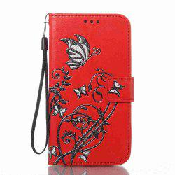 Embossing Colorful Daffodils PU Phone Case for Samsung Galaxy  S6 Edge -