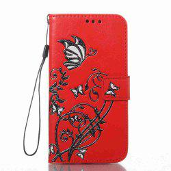 Embossing Colorful Daffodils PU Phone Case for Samsung Galaxy  S6 -