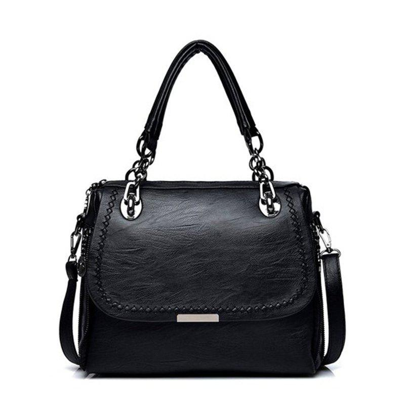 PU Leather Handbags Fashion Oblique Cross Package Luxury Designer Shoulder BagSHOES &amp; BAGS<br><br>Color: BLACK;