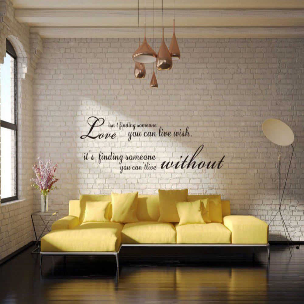 2018 Dsu Romantic Words English Quote Art Love Wall Sticker In Black