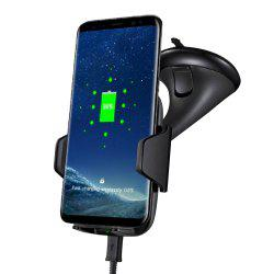 360 Rotatable Degrees Car Phone Mount Fast Charge Wireless Charger -