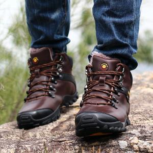 Male Leather Outdoor Climbing Shoes -
