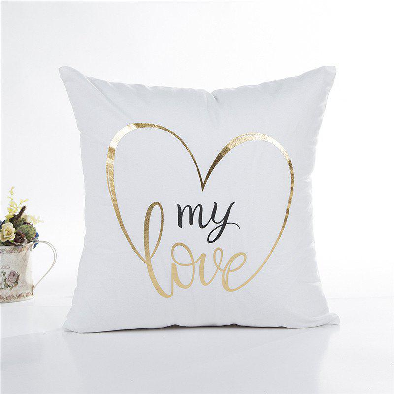 Online Soft Love Queen Printed Square Pillowcase 1Pc