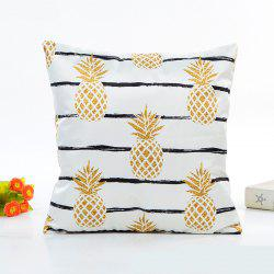 Soft Fresh Pineapple Pattern Decorative Pillow Case 1PC -