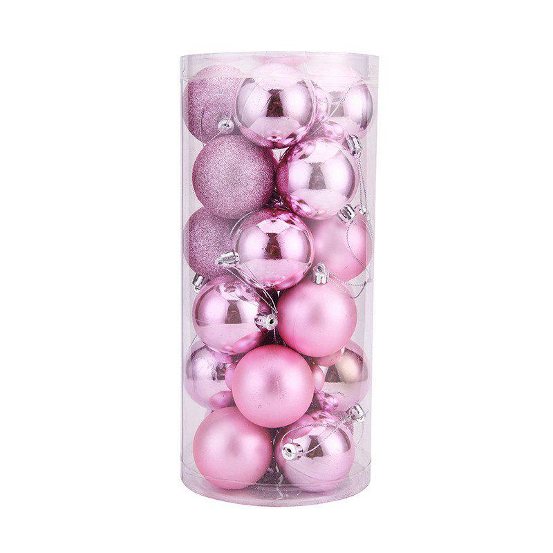 WS 24PCS/PACK Hot Christmas Tree Ornaments Multi-color Ball 6CM Plastic Gift for Xmas Holiday DecorationHOME<br><br>Size: SMALL; Color: PINK; Material: Plastic,PVC; For: All,Kids,Others; Usage: Christmas,Halloween,Others,Party,Stage,Valentine Gift,Wedding; Package Quantity: 24 x Christmas Ball;