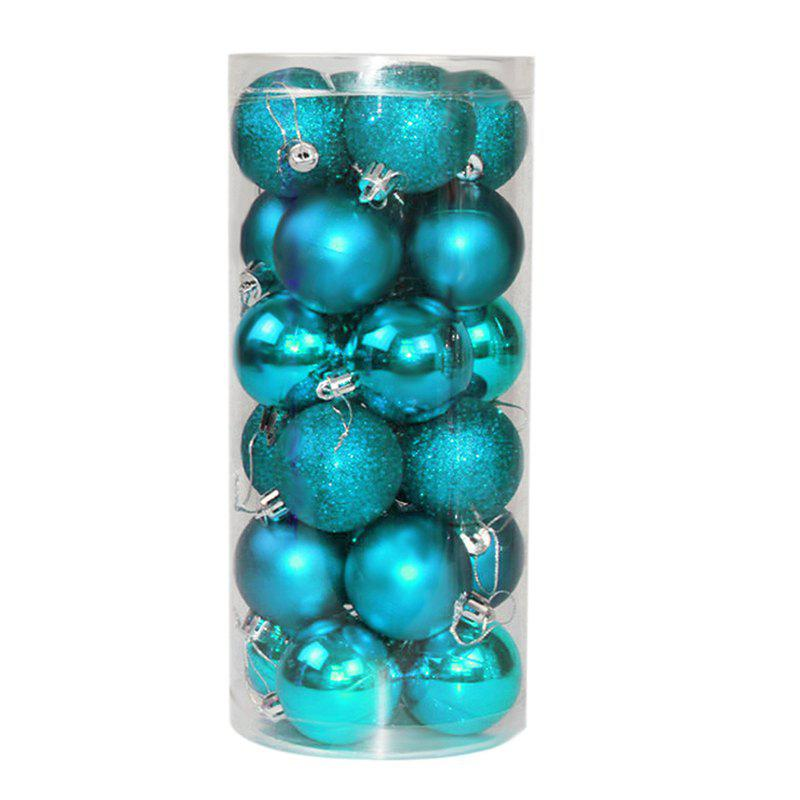 WS 24PCS/PACK Hot Christmas Tree Ornaments Multi-color Ball 6CM Plastic Gift for Xmas Holiday DecorationHOME<br><br>Size: SMALL; Color: GREEN; Material: Plastic,PVC; For: All,Kids,Others; Usage: Christmas,Halloween,Others,Party,Stage,Valentine Gift,Wedding; Package Quantity: 24 x Christmas Ball;
