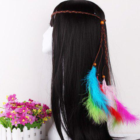 Chic Elegant Feather Headdress Super Fairy Hair Band Colorful Hair Accessories Photo Travel Headdress