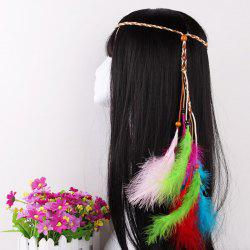Elegant Feather Headdress Super Fairy Hair Band Colorful Hair Accessories Photo Travel Headdress -