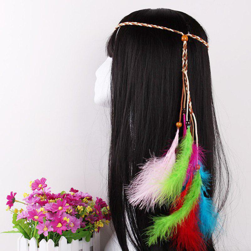 New Elegant Feather Headdress Super Fairy Hair Band Colorful Hair Accessories Photo Travel Headdress