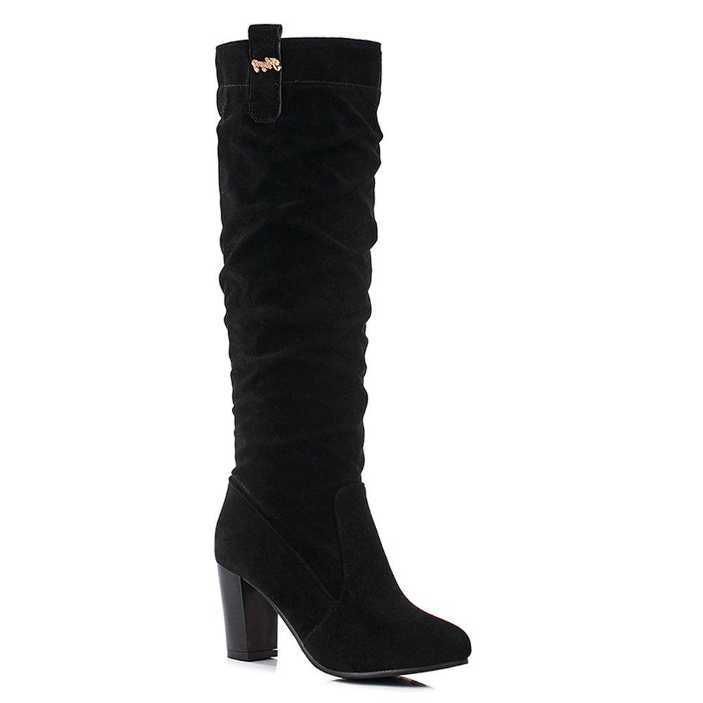 Autumn Winter New high Heel Fashionable Female BootsSHOES &amp; BAGS<br><br>Size: 39; Color: BLACK;