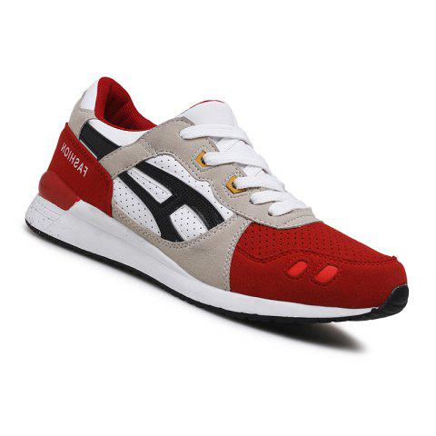 Men Casual Fashion Outdoor Travel Winter Autumn Warm Shoes Size 39 44 RED