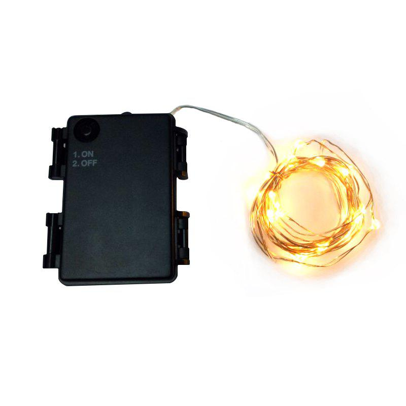 25 - LED Gold Wire 8 - Mode Decorative String Light with Battery BoxHOME<br><br>Color: BLACK; Output Power: &lt;0.5W; Color Temperature or Wavelength: 2500 - 3500K; Features: Easy to use,Long Life Expectancy; Function: Commercial Lighting,Home Lighting,Studio and Exhibition Lighting; Available Light Color: White; Sheathing Material: Plastic;