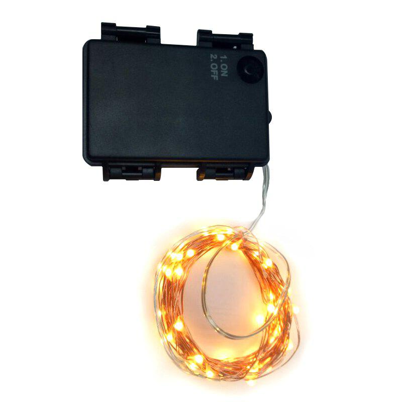 5M 50-LED Copper Wire 8-mode Decorative LED String Lights with Battery BoxHOME<br><br>Color: BLACK; Output Power: &lt;0.5W; Color Temperature or Wavelength: 2500 - 3500K; Features: Easy to use,Energy Saving,Long Life Expectancy; Function: Outdoor Lighting,Studio and Exhibition Lighting; Available Light Color: Yellow; Sheathing Material: Plastic;