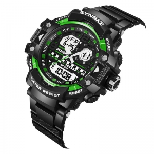 SYNOKE 4735 Outdoor Sports Trendy Waterproof Multifunctional Men Electronic Watch with Box -