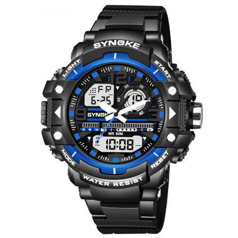 Chic SYNOKE 4735 Outdoor Sports Trendy Waterproof Multifunctional Men Electronic Watch with Box