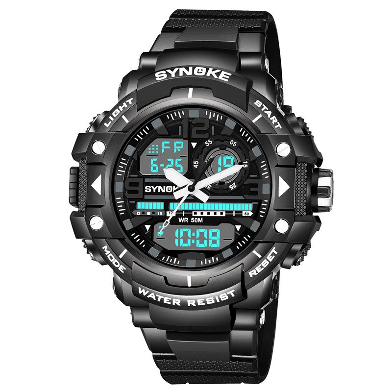 Cheap SYNOKE 4735 Outdoor Sports Trendy Waterproof Multifunctional Men Electronic Watch with Box