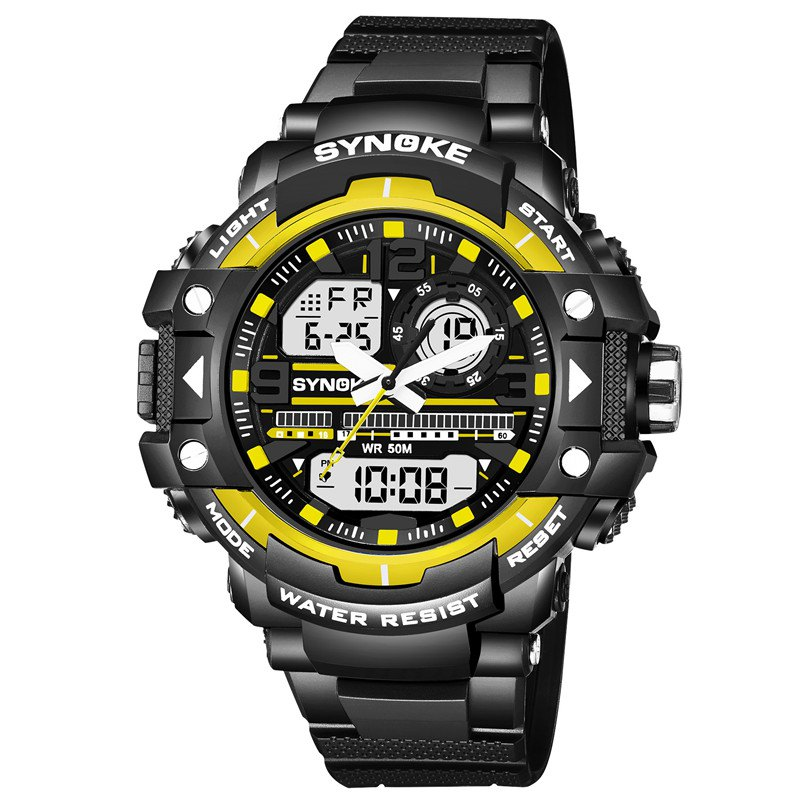 Fashion SYNOKE 4735 Outdoor Sports Trendy Waterproof Multifunctional Men Electronic Watch with Box
