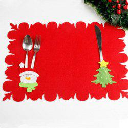 XM Christmas Tree Pattern Placemat Knives Forks Cover Christmas Decoration -