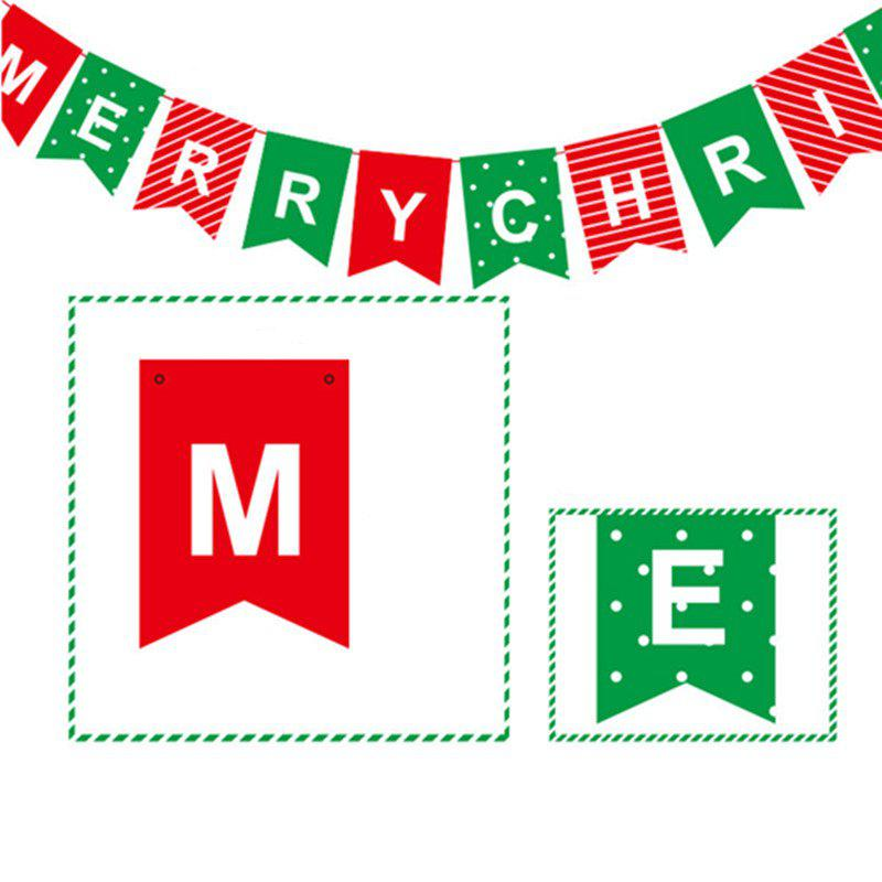14pcs/strip XM Card Paper Letter Christmas Decorate Banner Christmas DecorationsHOME<br><br>Color: COLORMIX; Brand: XM1; Material: Paper; Usage: Christmas; Package Quantity: 1;