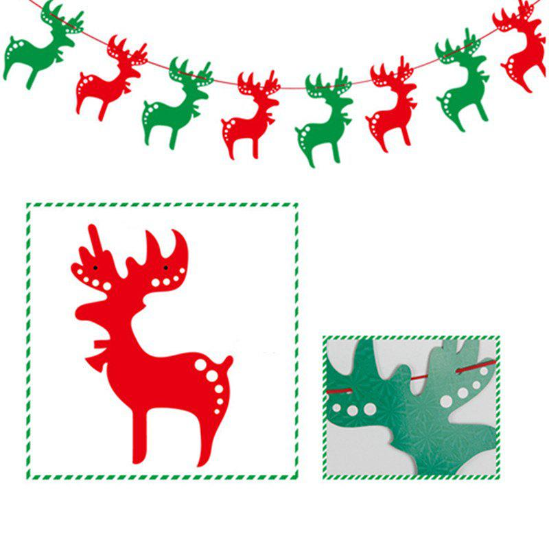 8pcs/strip XM Card Paper Christmas Elk Christmas Decorate Banner Christmas DecorationHOME<br><br>Color: COLORMIX; Brand: XM1; Material: Paper; Usage: Christmas; Package Quantity: 1;