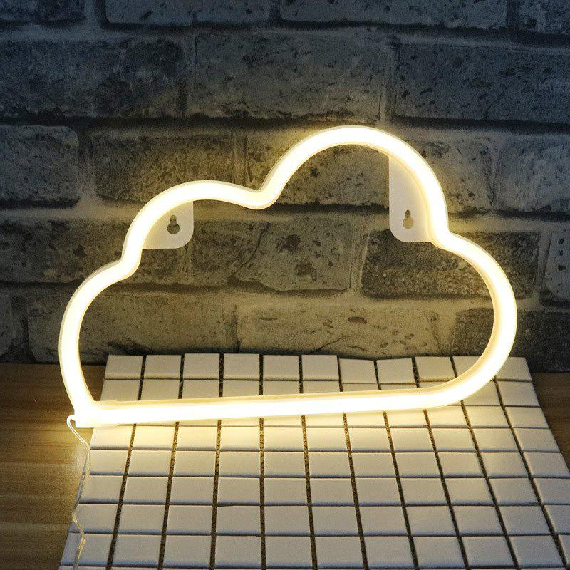 LED Cloud Shaped Neon Lamp Bedroom Decorative Night LightHOME<br><br>Color: WARM WHITE; Product weight: 0.2000 kg; Package weight: 0.2500 kg; Product size (L x W x H): 29.50 x 18.70 x 2.50 cm / 11.61 x 7.36 x 0.98 inches; Package size (L x W x H): 32.00 x 20.00 x 4.00 cm / 12.6 x 7.87 x 1.57 inches; Package Contents: 1 x Night Light;